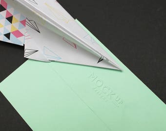 Paper Plane Birthday Card - Pink