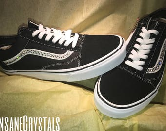 Classic Original Vans, Swarovski vans, Vans, customized shoes, Swarovski Crystals