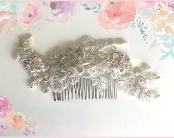 Bridal hand made hair comb, wedding hair accessory