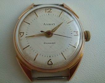 VOLNA Almaz 18 jewels cal.2809 ussr collectible vintage wristwatch soviet watch