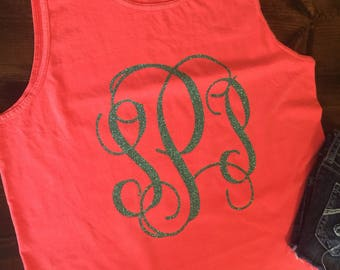Comfort Colors Monogram Tank