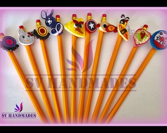 Pencil topper(set of 10)