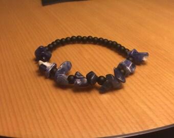 Purple and Navy Blue Seaside Bracelet