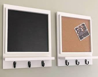 Blackboard and Corkboard Set, Command Center, Office Organizer, Office Decor, Home Office