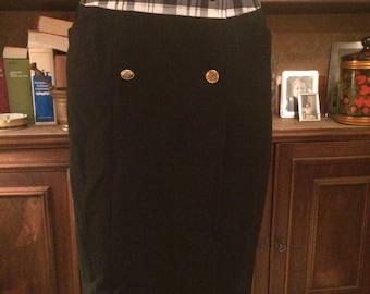 Black Chanel skirt