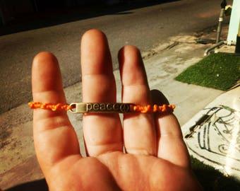 Macrame Armband Peace