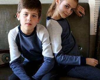 Sweatshirt grey blue