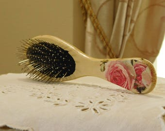 original handmade  eco material comb, decupagin techniques.