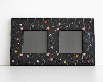 Vintage frame in mosaic and Millefiori