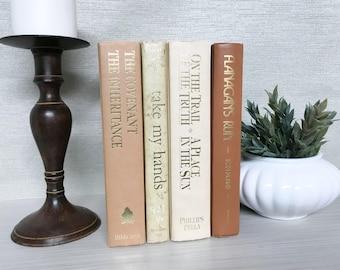 Tan Decorative Book Set