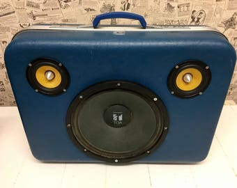 Custom Built Portable Bluetooth Boomcass Retro Speaker