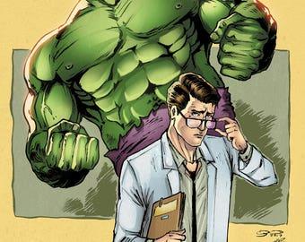 Hulk and Bruce Banner Print