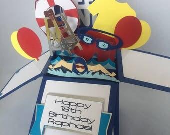Lifeguard Card in a box/Pop up box