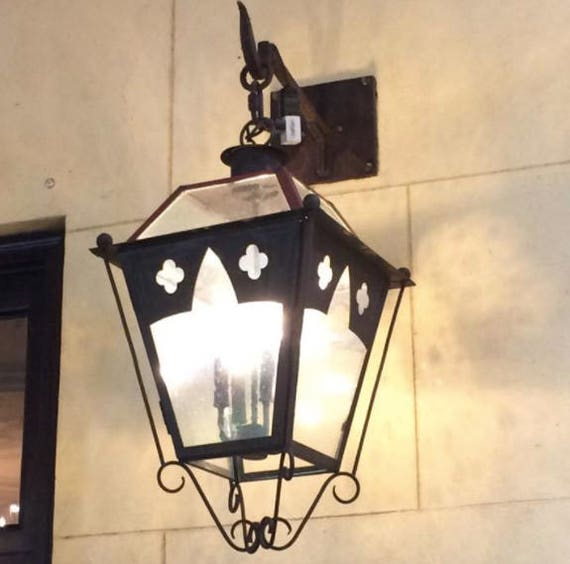 Copper Lantern Pendant Light Rustic Medieval Gothic