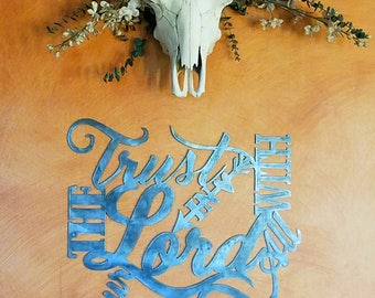 Metal scripture wall art, Trust in the Lord with all your heart