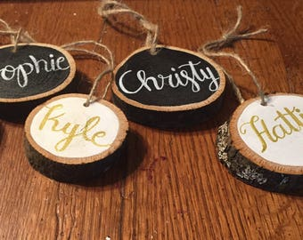 Personalized Christmas Stocking Name tags | Personalized Christmas Tags | Name Tags | Personalized Gift Tags | Custom Calligraphy Gift Tags