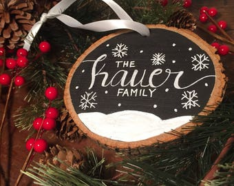 Personalized Christmas ornaments    Family Ornament   Custom Ornament   Christmas Ornament   Housewarming Gift   wood Christmas ornaments