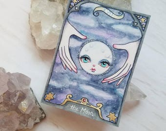 The Moon Tarot Artist Trading Card Print