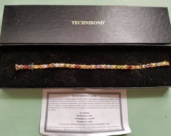 Ladies Technibond Multi-Gemstone Tennis Bracelet