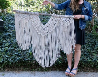 MADE TO ORDER Large Macrame Wall Hanging
