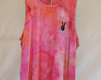 25% OFF ENTIRE SHOP Mens Xl - Tank Singlet - Ready To Ship - Unisex - Tie Dyed - 100 Percent Cotton - Free Shipping within Aus