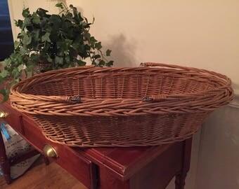 Vintage Gathering Garden Basket Fold Down Handles