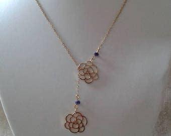 "necklace ""Golden Flower duo"""