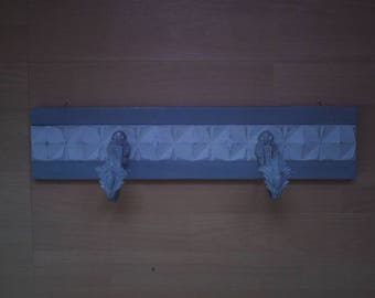 weathered gray Dove and Gustavian coat rack
