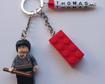 Harry Potter//Minifigure//Key Ring/Key Chain/Bag Tag//Any Name/Personalised//Gift/Back to School/Birthday/Mothers Day/Fathers Day/Lego/Brick