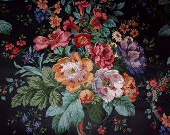beautiful floral vintage fabric.