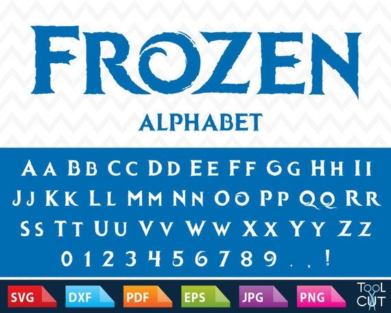 Frozen Font Svg Frozen Monogram Font Svg Frozen Letters Svg