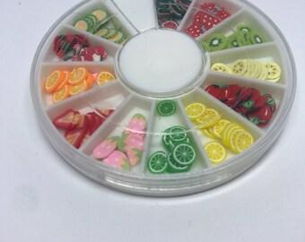 Fimo Slice Polymer Clay Fruit Wheel