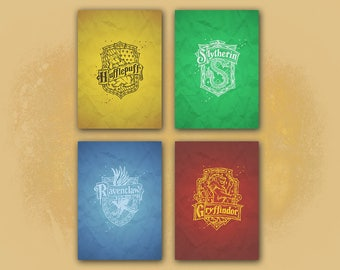 Harry Potter Hogwarts House A4 Bundle - Harry Potter Wall Art - Wall Decor