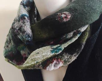 Nunofelt dyed scarf