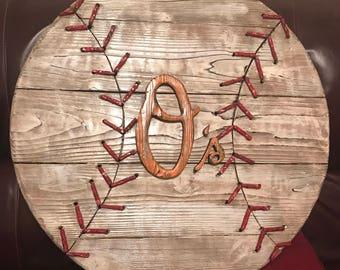 Baltimore Orioles wood sign, wood baseball sign, orioles wall art, baseball decor, Baltimore orioles vintage art, distressed wood baseball