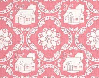 RILEY BLAKE Daisy Cottage pink patchwork fabric