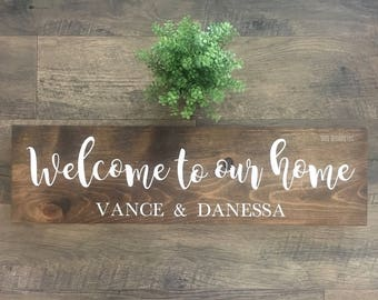 Welcome To Our Home//Wooden Sign//Closing Gift