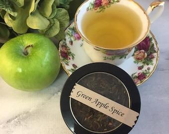 Green Apple Spice Tea Loose Leaf Green Tea 1.2 oz