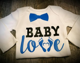Baby Love Onesie, Can Personalize for a Girl As Well - Super Cute, Great Baby Shower Gift!
