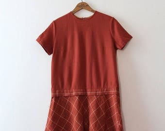 SUMMER SALE CLEARANCE vintage 1960s wool dress // 60s wool shift dress