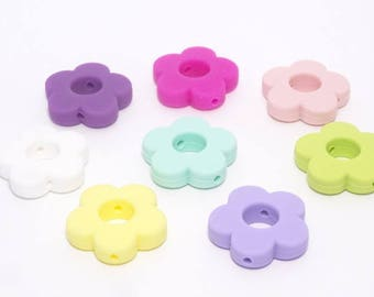Pearl silicone flower 100% silicone with 28 x 28mm for making ties