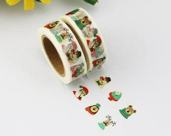 Washi Tape - Decorative Tape - Paper Tape - Planner Tape - Christmas Washi Tape - Funny Faces Washi - Deco Paper Tape