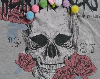 Bespoke Bohemium skull day of the dead vest re-worked size 10