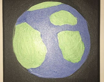 Small Metallic Earth Painting