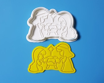 The night Jesus Born Cookie Cutter and Stamp