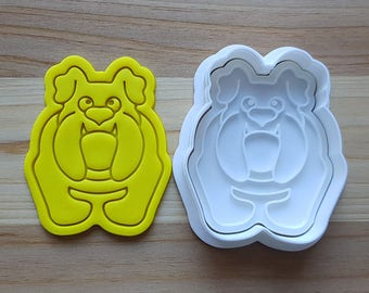 Bulldog Cookie Cutter and Stamp