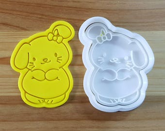 Cute Bunny Cookie Cutter and Stamp