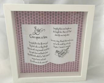 Personalised story frame