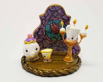 Beauty and the Beast Stained Glass Scene