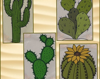 Cactus SVG - Layered Cactus svg files- Cactus svg files made for cricut and silhouette